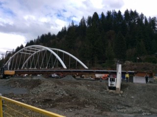 The Vedder Bridge replacement project drew a crowd Tuesday