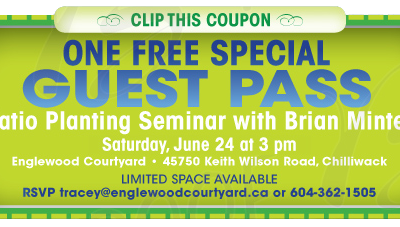 An Invitation To – Patio Planting Seminar with Brain Minter