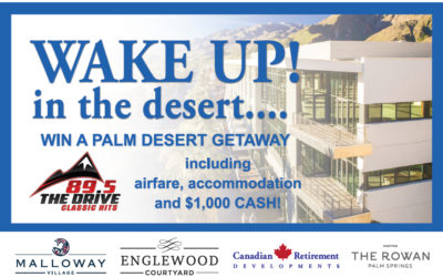 WIN A PALM DESERT GETAWAY including airfare, accommodation and $1000 CASH!